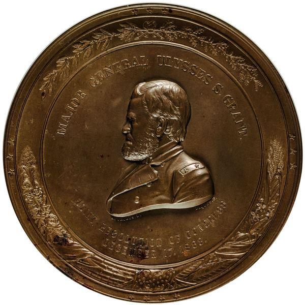 United State. Mint Medal. Circa 1863 Major General Ulysses S. Grant Vicksburg Victory Medal. Julian