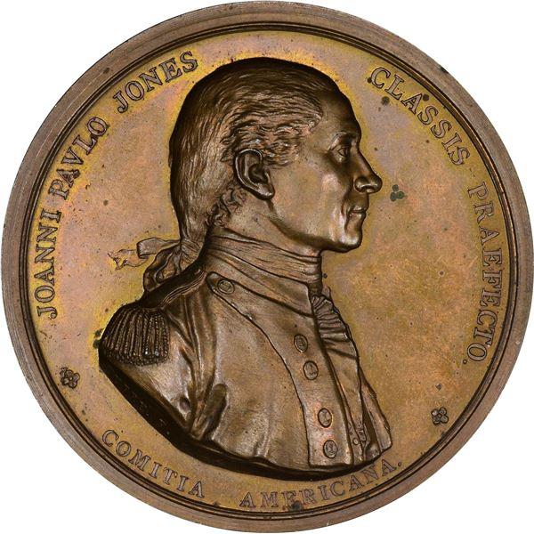 United States. Mint Medal. MDCCLXXVIIII (circa mid-1860s) John Paul Jones. Julian NA-1. Bronze.