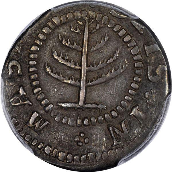 Massachusetts Bay Colony.  1652 Pine Tree Shilling. Noe-30, Cr.13-S, W.48. Small Planchet. Rarity-3.