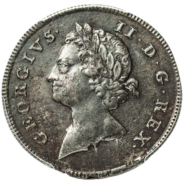 Undated (1733) Post-Patent Rosa Americana Twopence Pattern. Steel. Uniface, Obverse. PCGS Proof Genu