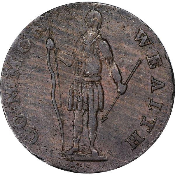 Massachusetts. 1788 Cent. R.8-C, W.6260. Rarity-2. AU-50 PCGS.
