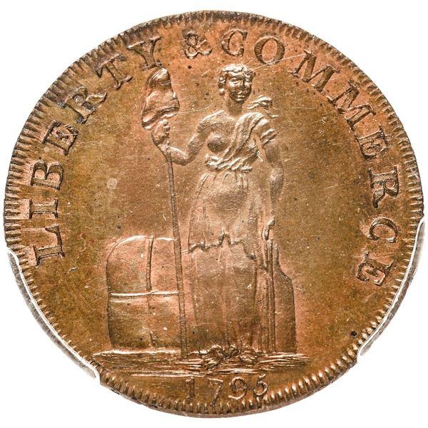 New York via Great Britain. 1795 Talbot, Allum & Lee Cent. With NEW YORK. Fuld-1, Breen-1035, W.8620