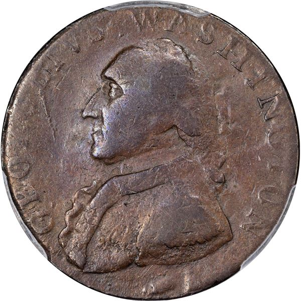 Undated (1795) Washington North Wales Halfpenny. Lettered Edge. Baker-34, D&H-1052bis, Breen-1296. E