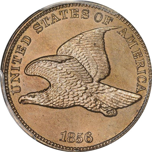 Flying Eagle 1¢. Snow-9. Proof-64 PCGS. CAC