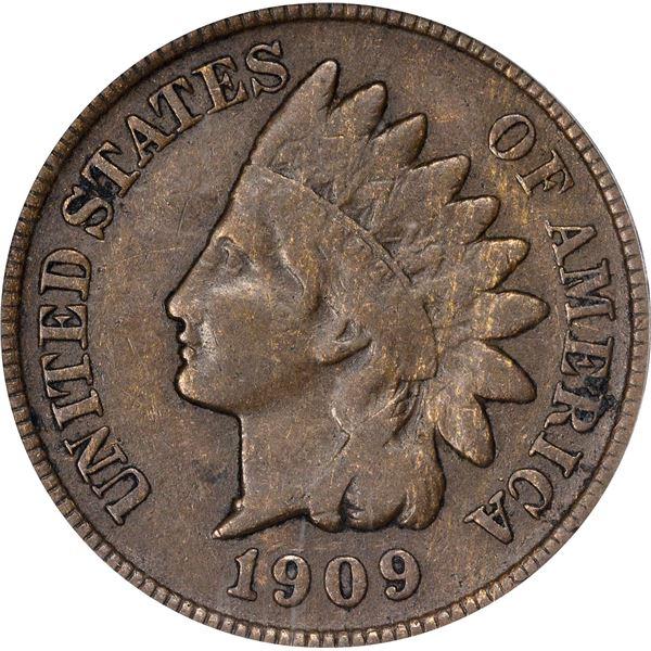 1909-S Indian 1¢. Fine-12 PCGS.