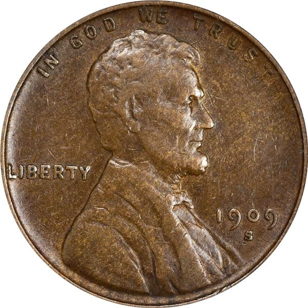 1909-S Lincoln Cent. EF-40 PCGS.