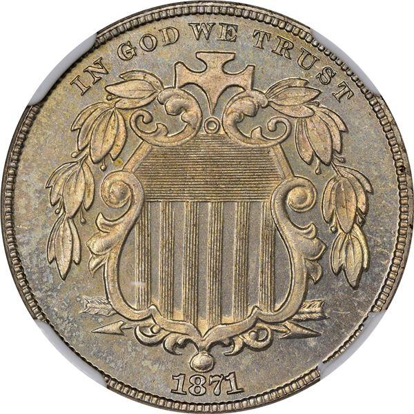 1871 Shield 5¢. Proof-65 NGCv