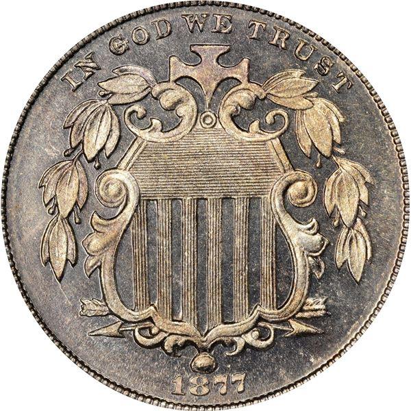 1877 5¢. Proof-66 CAM PCGS.