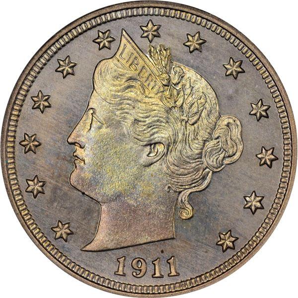 1911 5¢. Proof-66 NGC.