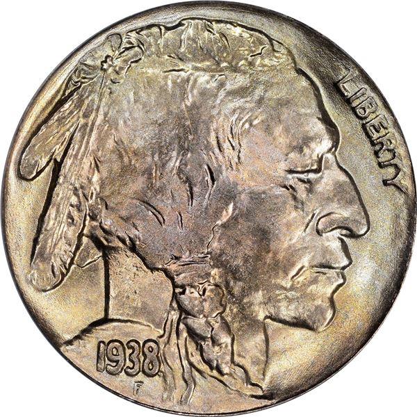 1938-D Buffalo 5¢. MS-65 PCGS. Gold CAC