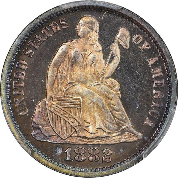 1882 10¢. Proof-67 CAM PCGS.