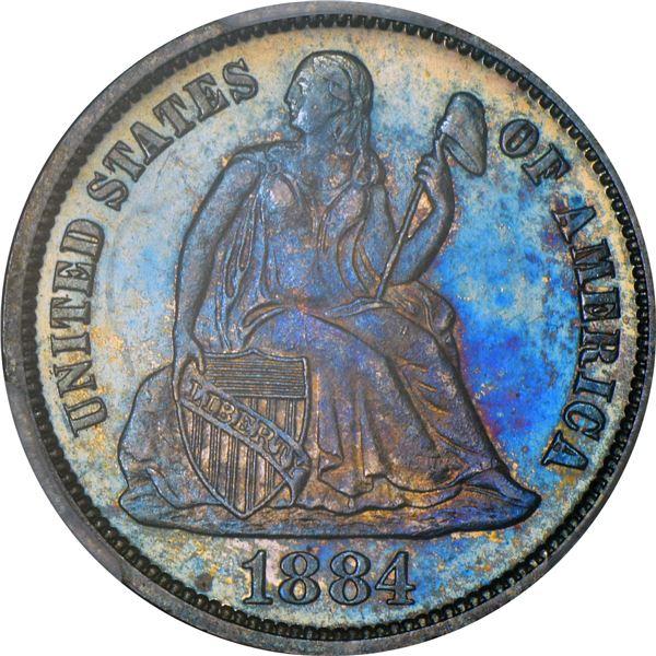 1884 10¢. Proof-64 PCGS