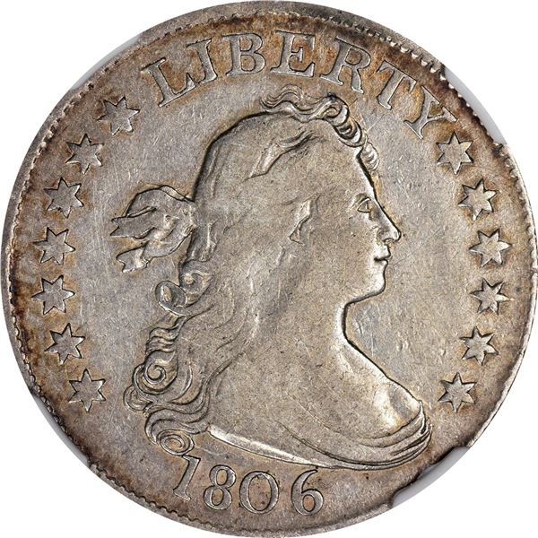1806 25¢. Browning-3. Rarity-1. Fine-15 NGCv