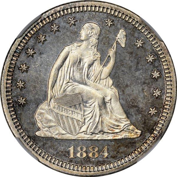 1884 25¢. Proof-66 Cameo NGC