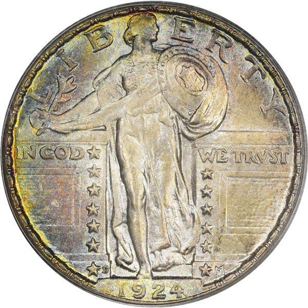 1924-D 25¢. MS-65 PCGS.v