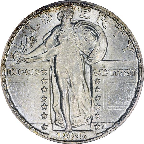 1925 25¢. MS-66+ PCGS.
