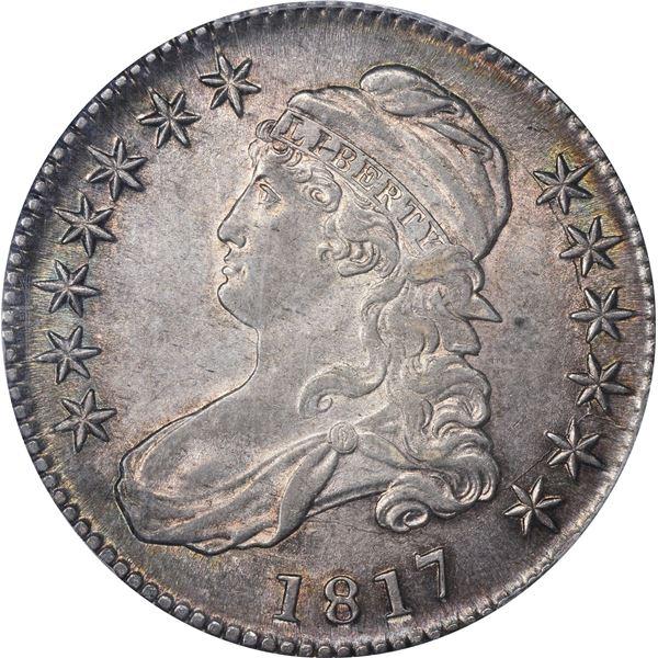 1817 50¢. Overton-110a. Rarity-2. AU-58 PCGS. CAC.