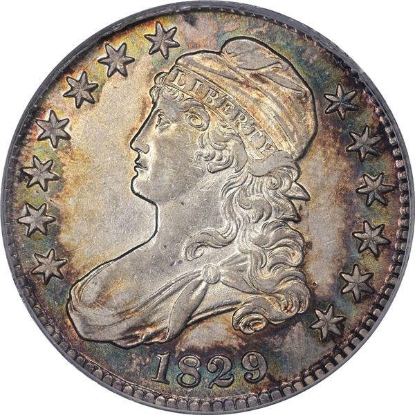 1829 50¢. Overton-117. Rarity-2. AU-53 PCGS. CAC