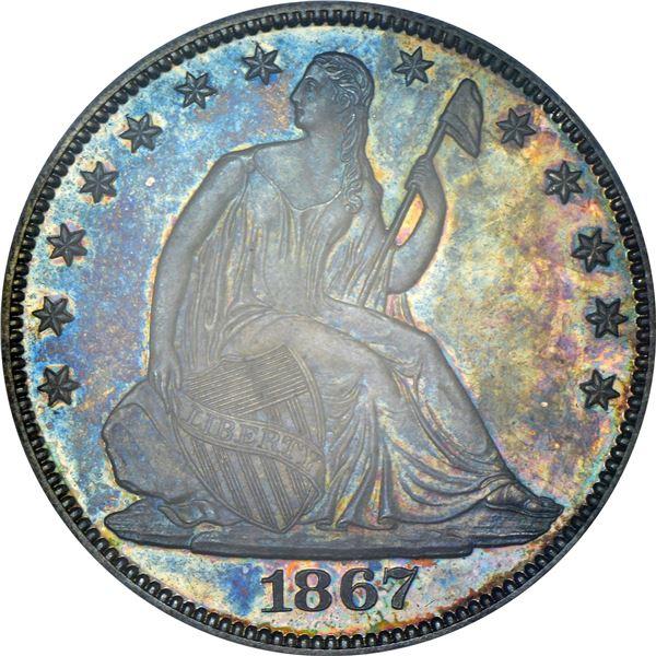 1867 50¢. Proof-65 PCGS