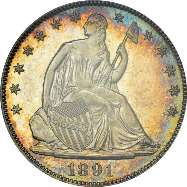1891 50¢. Proof-65 CAM PCGS. CAC