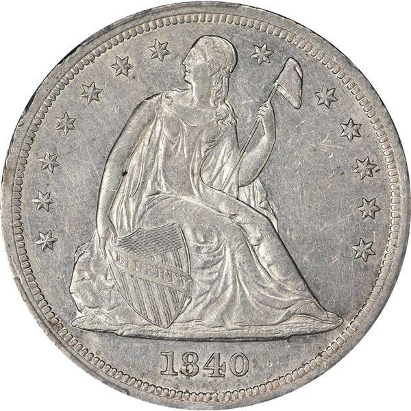 1840 $1. AU-53 PCGS.