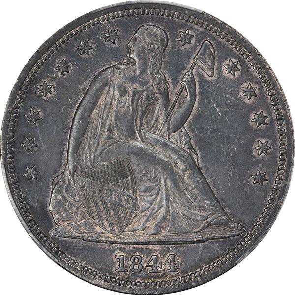 1844 $1. PCGS AU-50.