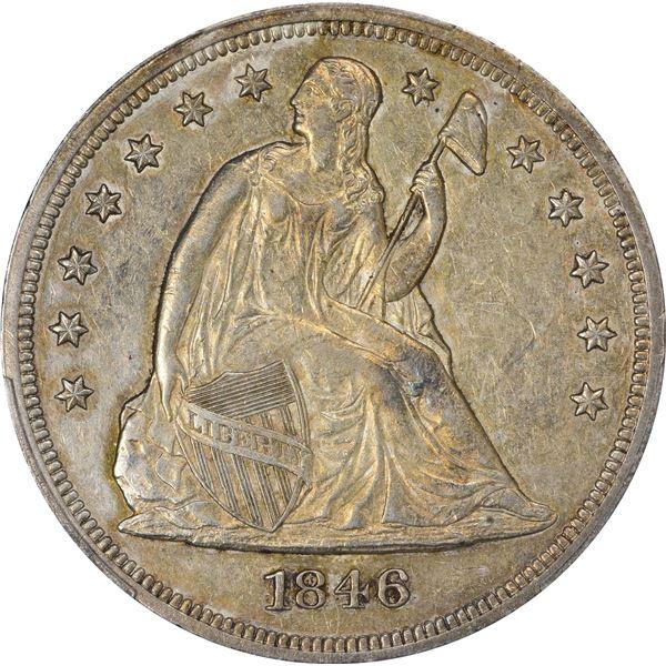 1846 $1. EF-45 PCGS.