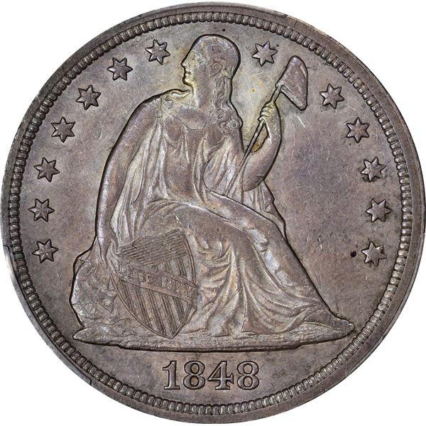 1848 $1. AU-55 PCGS.
