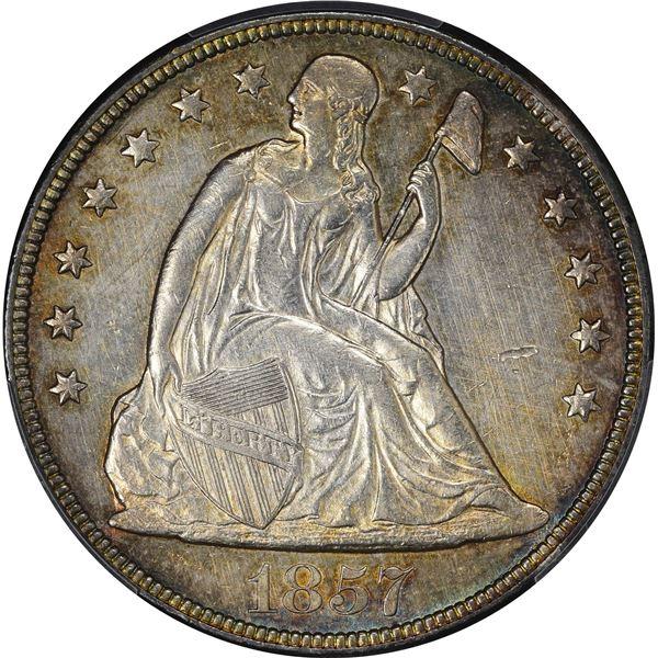 1857 $1. PCGS Genuine – Cleaned – AU Details.