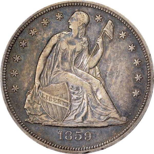 1859-S $1. EF-45 PCGS