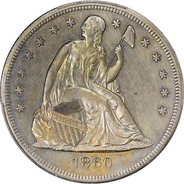 1860-O $1. PCGS Genuine – Filed Rims – AU Details.