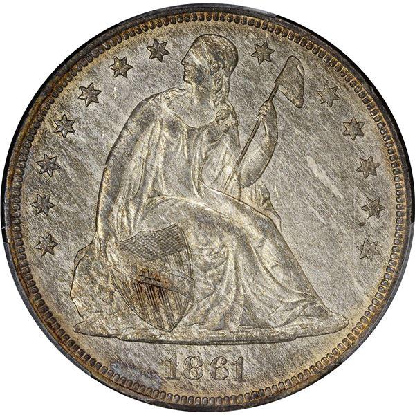 1861 $1. PCGS Genuine – Cleaned – AU Details.