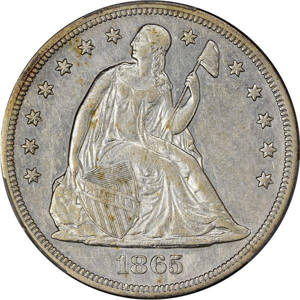 1865 $1. PCGS EF-45.
