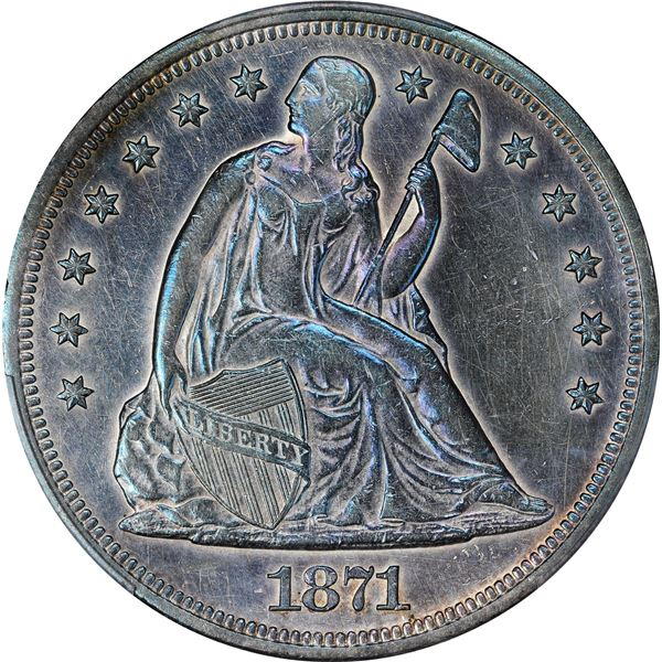 1871 $1. PCGS Genuine – Cleaned – AU Details.