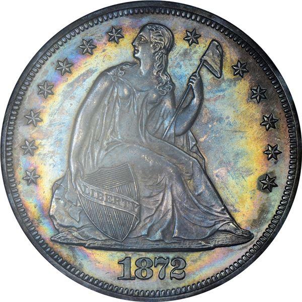 1872 $1. Proof-63 PCGS.