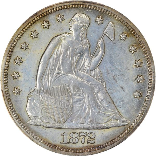 1872 $1. PCGS Genuine – Surfaces Smoothed – AU Details.