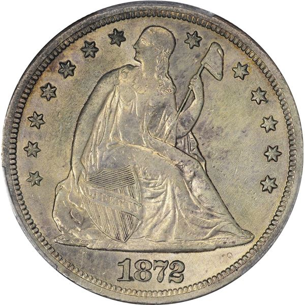 1872-S $1. PCGS Genuine – Surfaces Smoothed – AU Details.