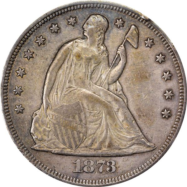 1873 $1. Genuine – PCGS