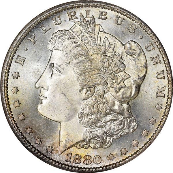 1880-S $1. MS-66 NGC. CAC.