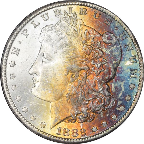 1882-CC $1. MS-63+ NGC.