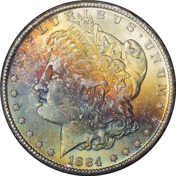 1884-CC $1. MS-63* NGC.