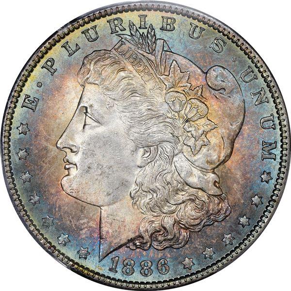 1886 $1. MS-64 PCGS. CAC