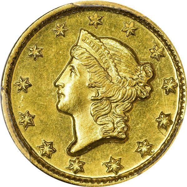 1849-D Gold $1. Winter 1-B. MS-62 PCGS.