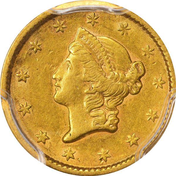 1851 Gold $1. PCGS AU-53..