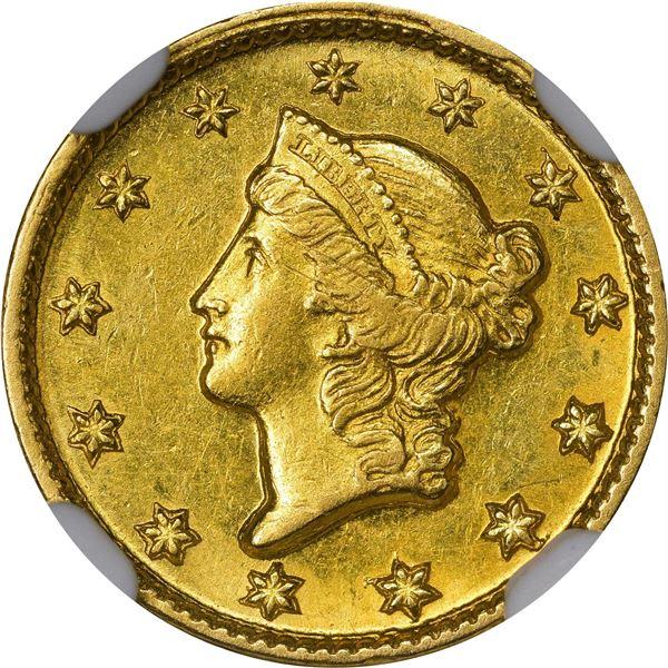 1851-D Gold $1. Winter 3-D. MS-61 NGC..