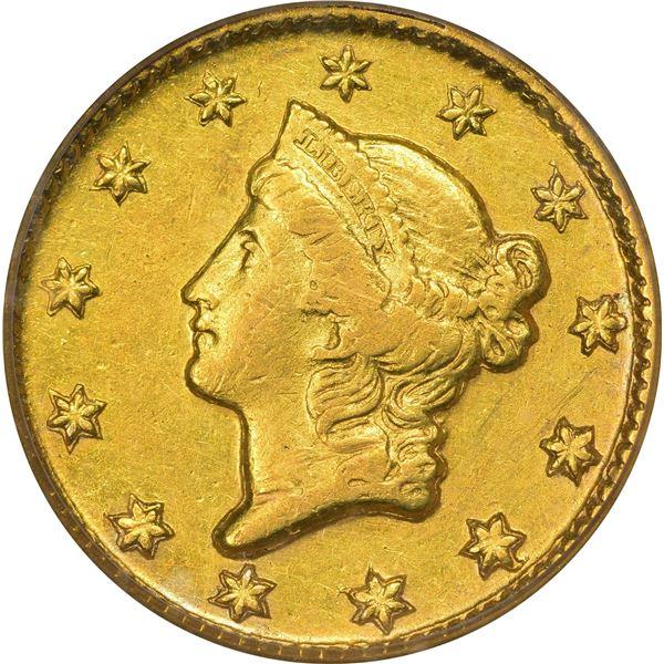 1851-D Gold $1. Winter 3-D. AU-50 PCGS..