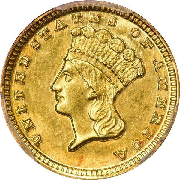 1859-D Gold $1. Winter 11-N. MS-61 PCGS..