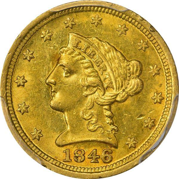 1846-D $2.50. Winter 7-L. PCGS MS-61..