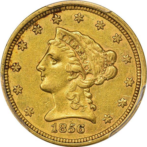 1856 Gold $2.50. AU-50 PCGS. CAC.