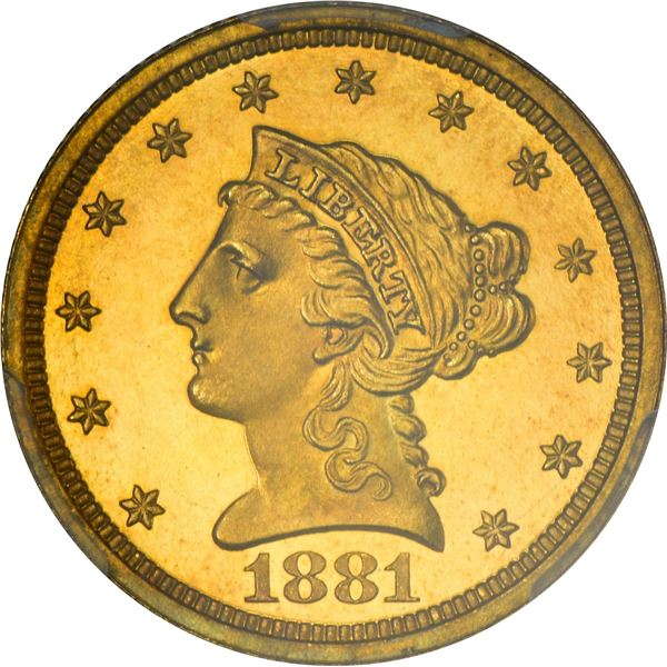 1881 Gold $2.50. Proof-66+ DCAM PCGS. CAC.